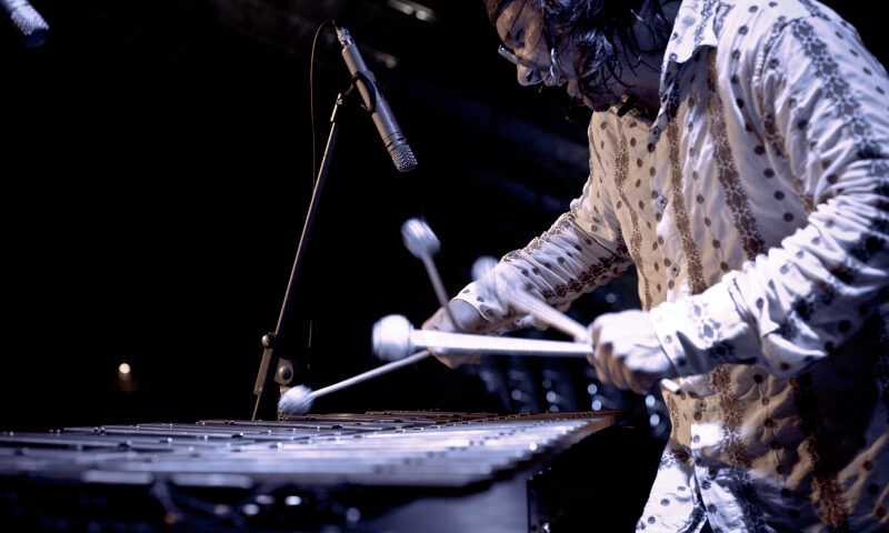 Irek Głyk~gra na wibrafonie