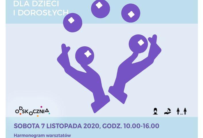 plakat z żonglerką