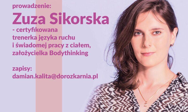 Zdjęcie młodej kobiety z opisem: prowadząca: Zuza Sikorska