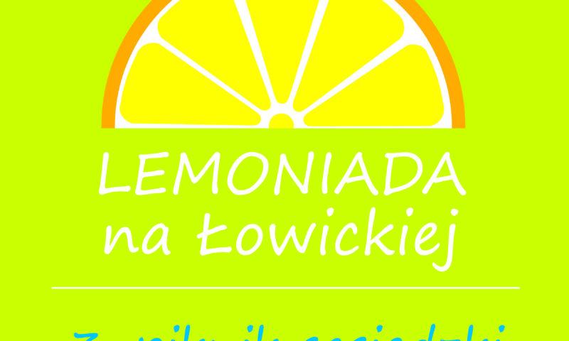 Rysunek cytryny z podpisem Lemoniada na Łowickiej