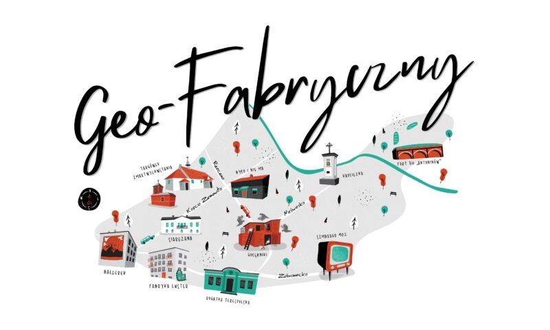Mapa z zaznaczonymi graficznymi elementami charakterystycznymi dla krajobrazu Targówka